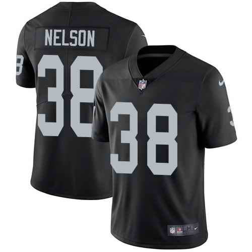 Nike Raiders 38 Nick Nelson Black Vapor Untouchable Limited Jersey