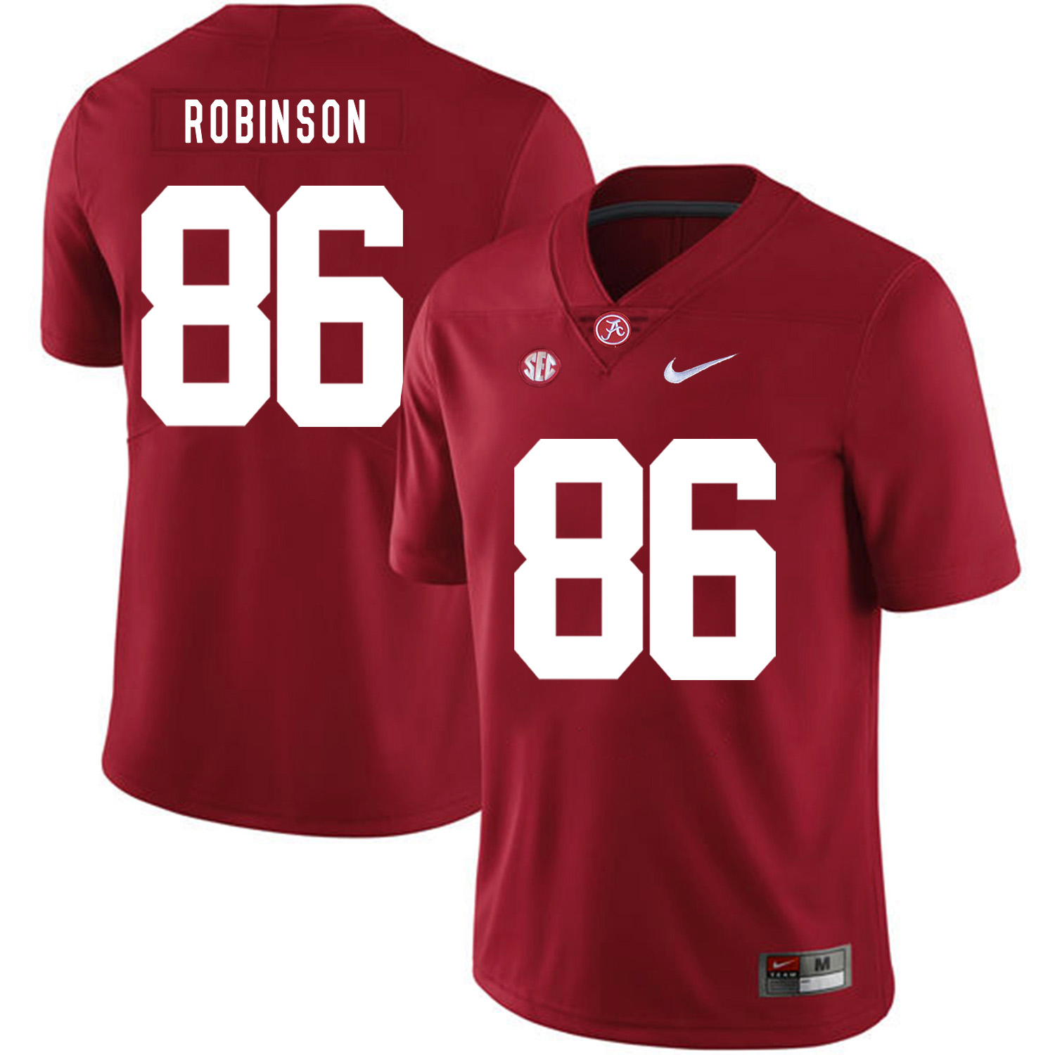 Alabama Crimson Tide 86 A'Shawn Robinson Red Nike College Football Jersey