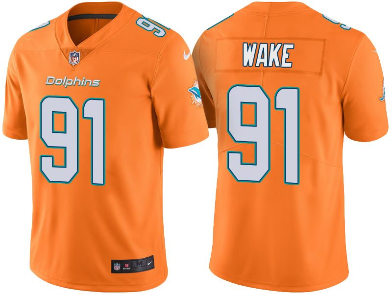 Nike Dolphins 91 Cameron Wake Orange Youth Vapor Untouchable Limited Jersey