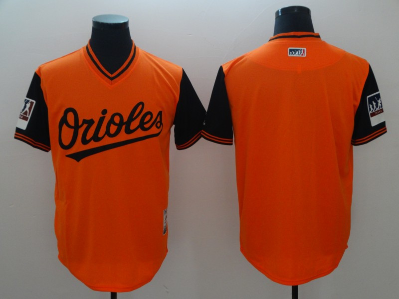 Orioles Orange 2018 Players' Weekend Authentic Team Jersey