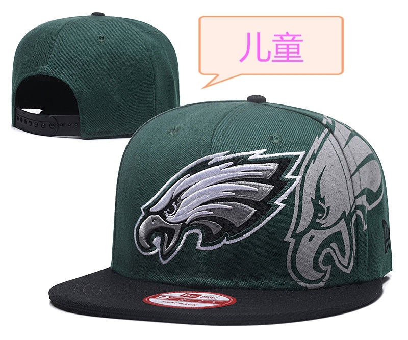 Eagles Team Logo Green Youth Adjustable Hat GS