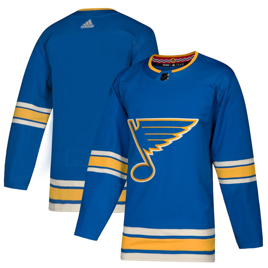 Blues Blank Blue Alternate Adidas Jersey