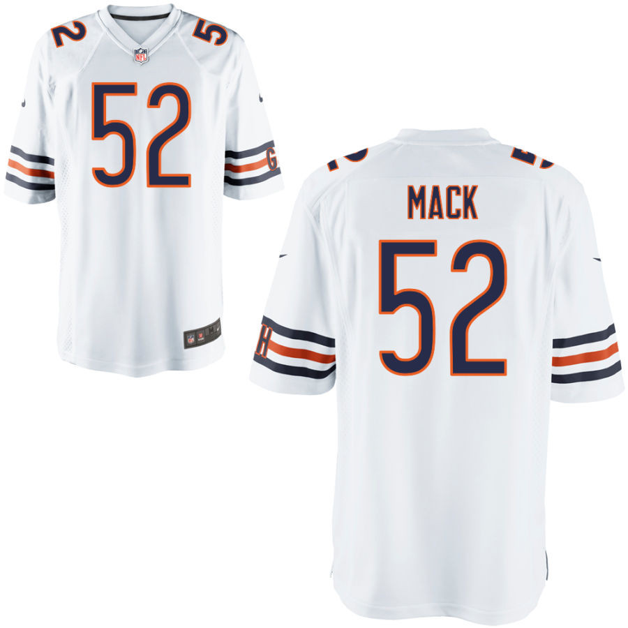 Nike Bears 52 Khalil Mack White Elite Jersey