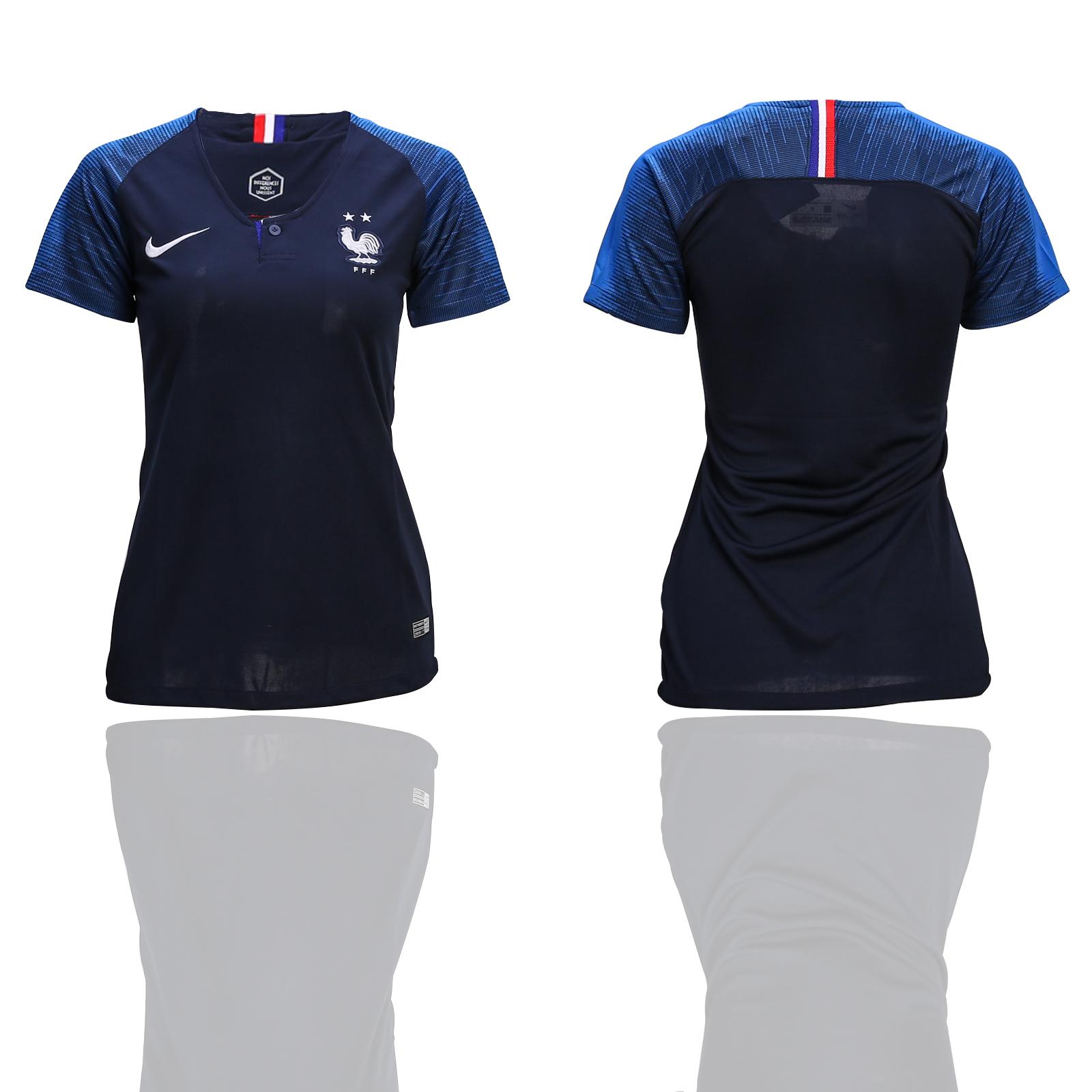 France Home 2-Star Women 2018 FIFA World Cup Soccer Jersey