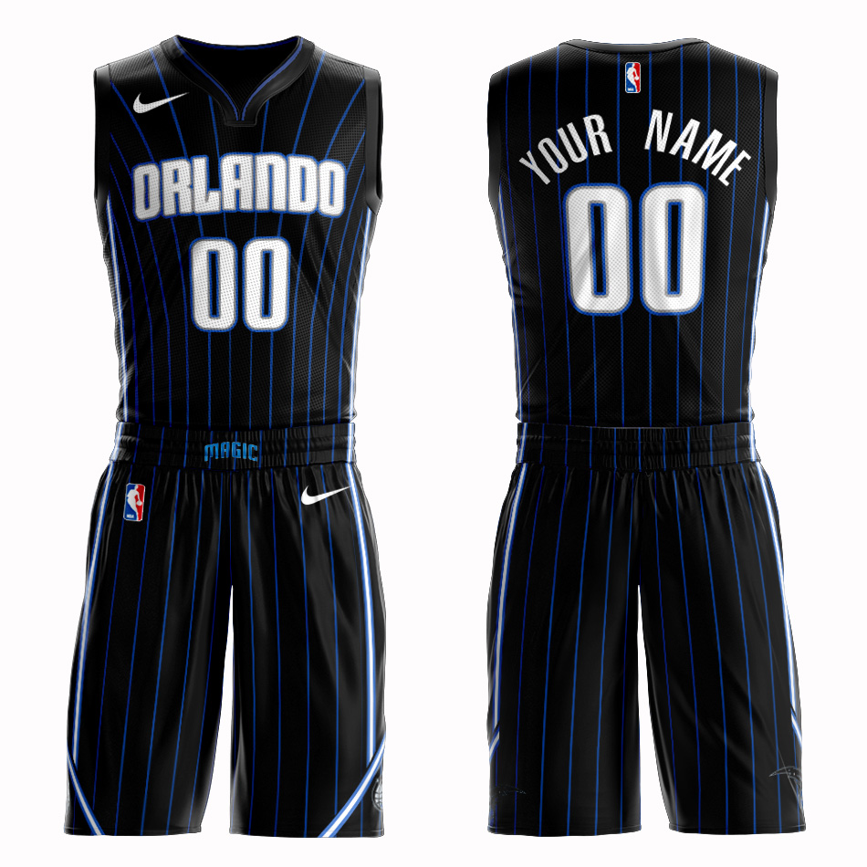 Magic Black Men's Customized Nike Swingman Jersey(With Shorts)