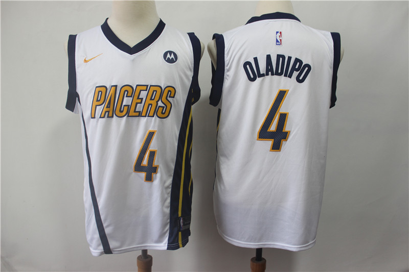 Pacers 4 Victor Oladipo White 2018-19 Earned Edition Nike Swingman Jersey