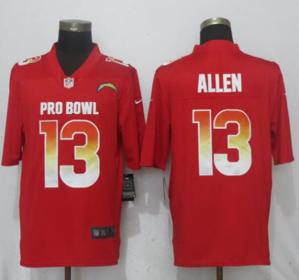 Nike AFC Chargers 13 Keenan Allen Red 2019 Pro Bowl Limited Jersey