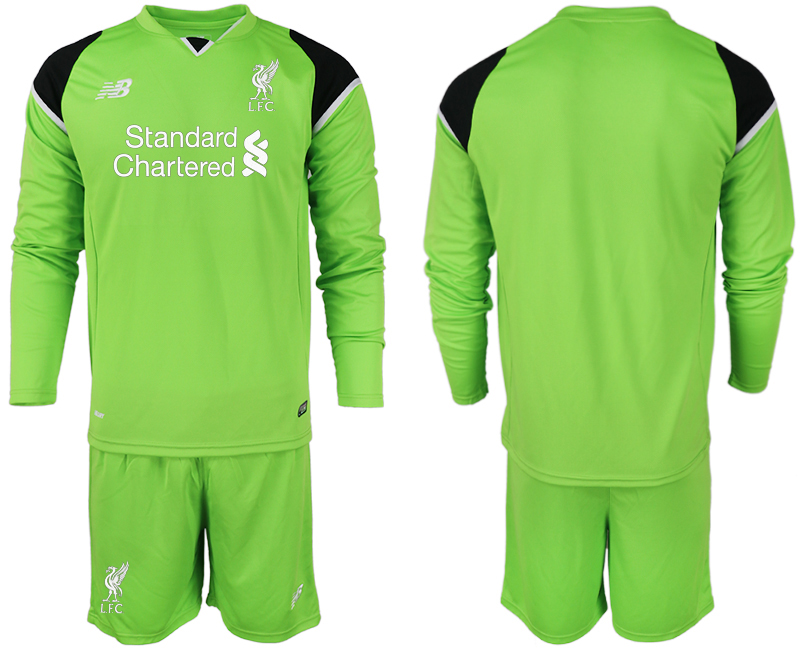 2018-19 Liverpool Green Long Sleeve Goalkeeper Soccer Jersey