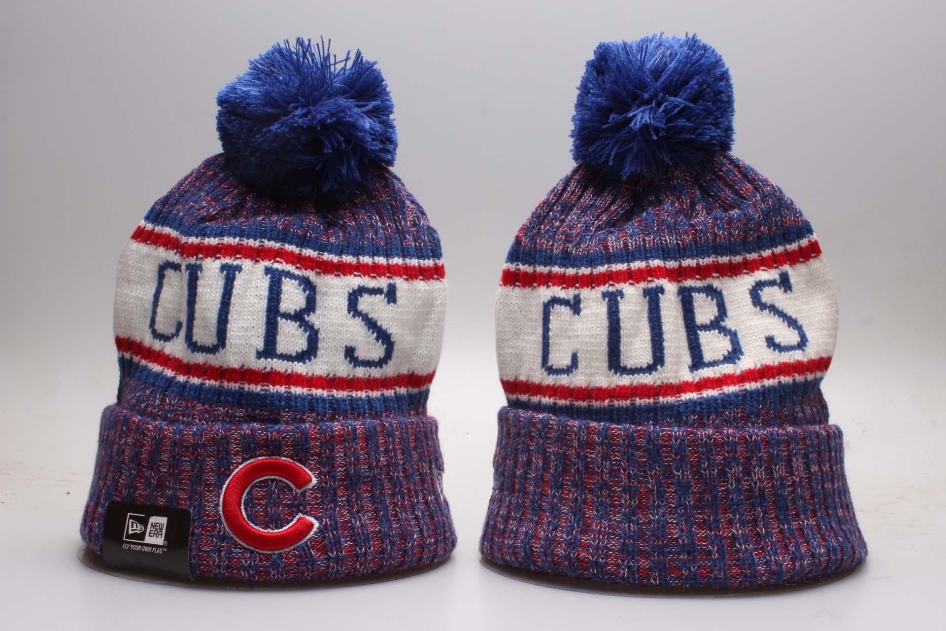 Cubs Fresh Logo Royal Knit Hat YP