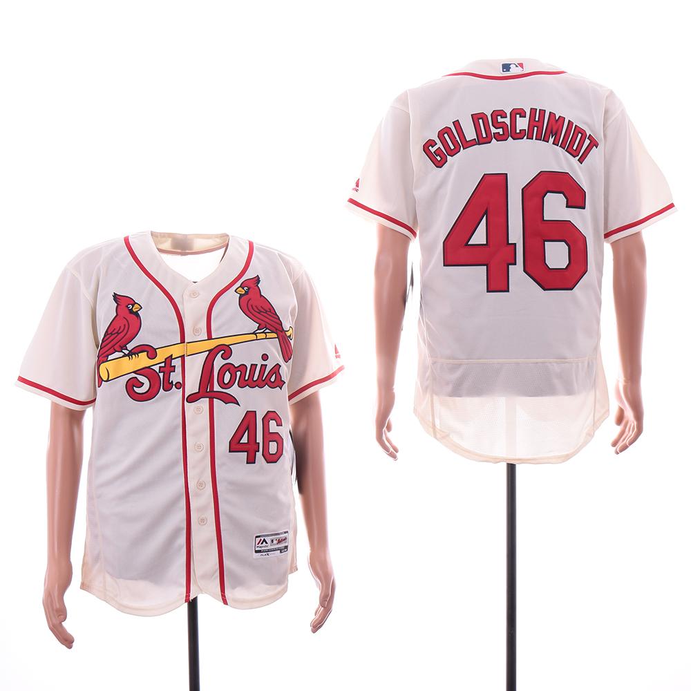 Cardinals 46 Paul Goldschmidt Cream Flexbase Jersey