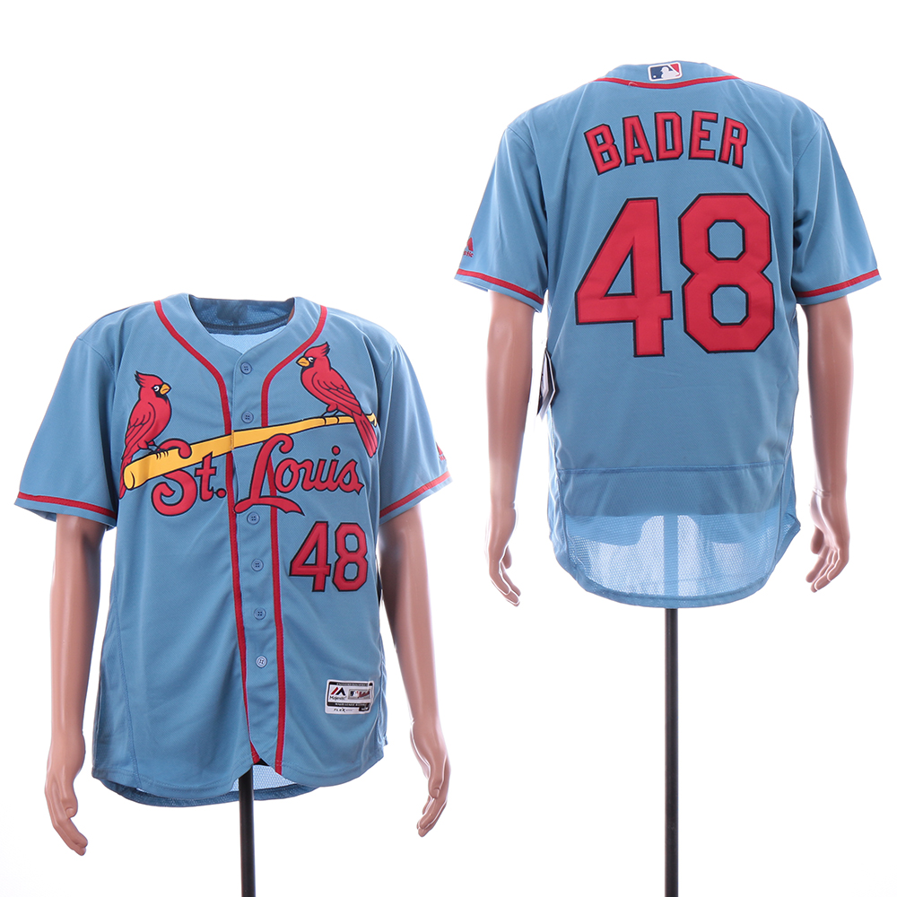 Cardinals 48 Harrison Bader Light Blue Flexbase Jersey