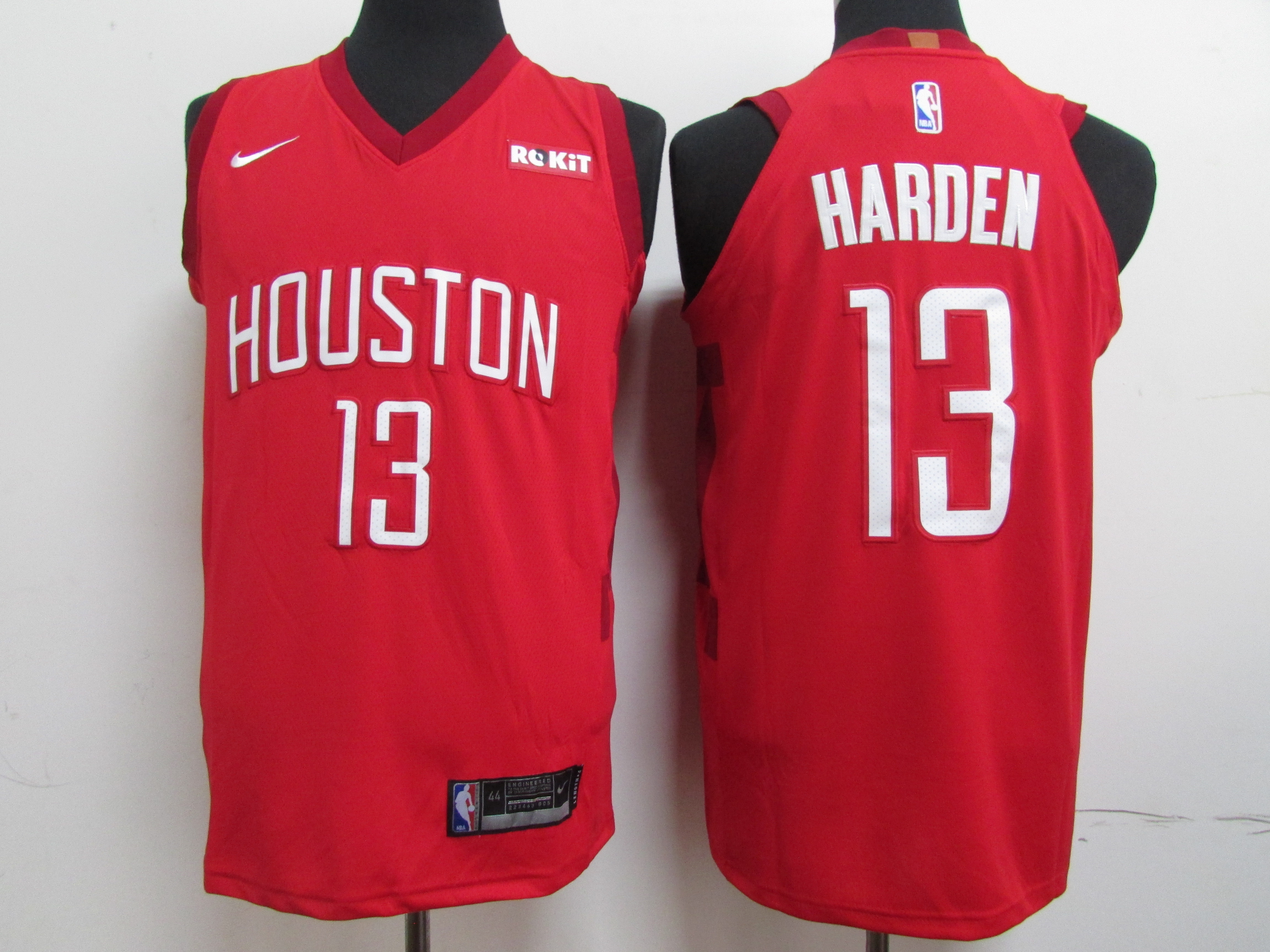 Rockets 13 James Harden Red 2018-19 Earned Edition Nike Authentic Jersey