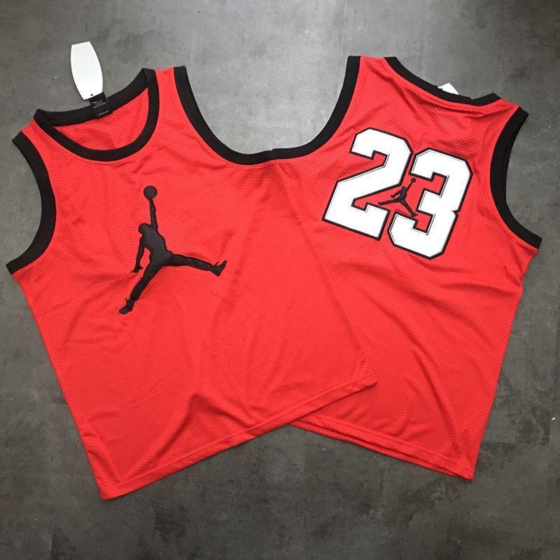 Jordan Logo #23 Red Mesh Basketball Jersey