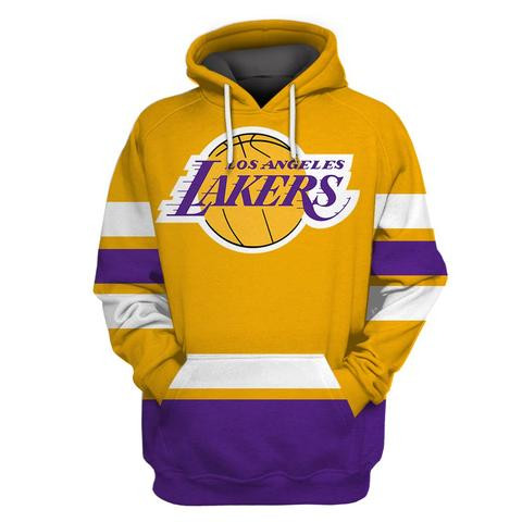 Lakers Gold All Stitched Hooded Sweatshirt