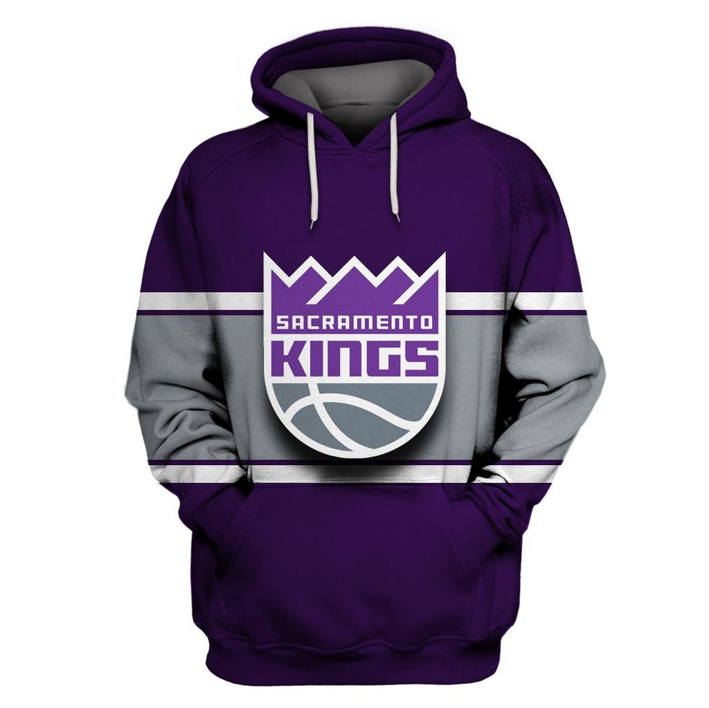 Sacramento Kings Purple All Stitched Hooded Sweatshirt