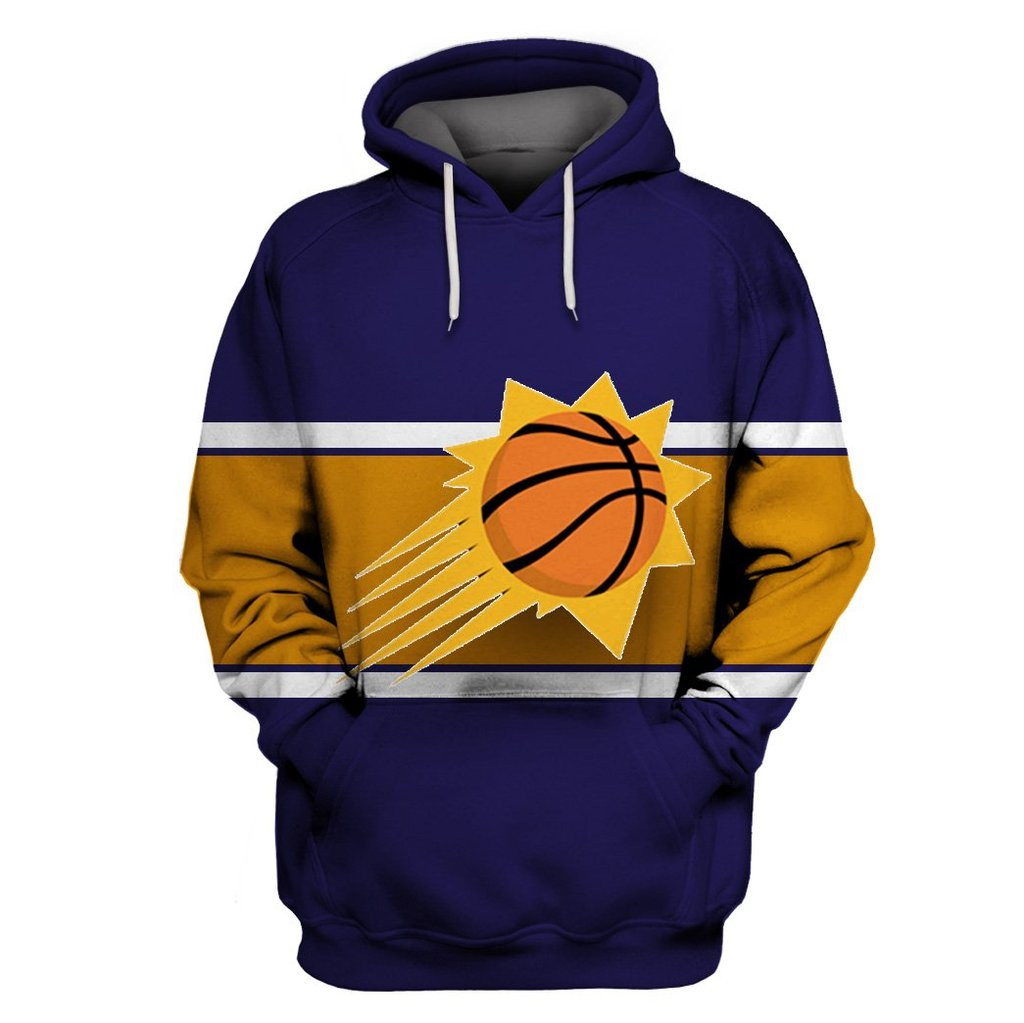 Suns Purple All Stitched Hooded Sweatshirt