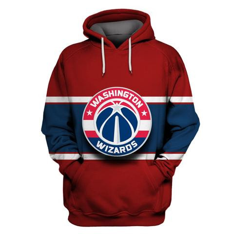 Wizards Red All Stitched Hooded Sweatshirt