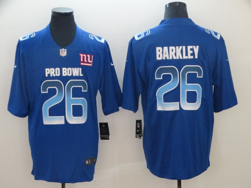 Nike NFC Giants 26 Saquon Barkley Royal 2019 Pro Bowl Game Jersey