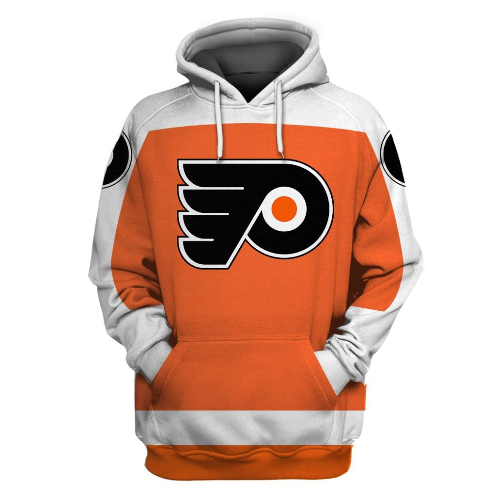 Flyers Orange All Stitched Hooded Sweatshirt