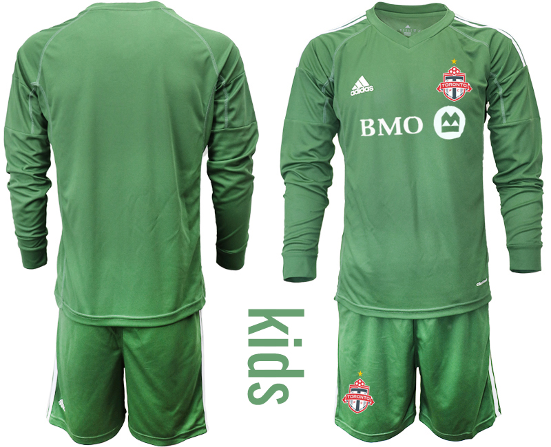 2018-19 Toronto FC Army Green Youth Long Sleeve Soccer Jersey