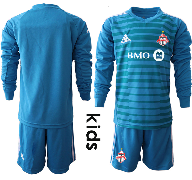 2018-19 Toronto FC Blue Youth Long Sleeve Soccer Jersey