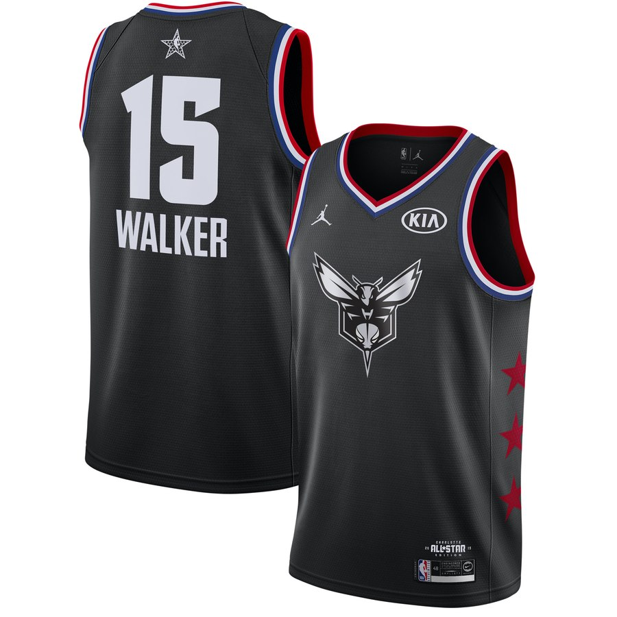 Hornets 13 Kemba Walker Black 2019 NBA All-Star Game Jordan Brand Swingman Jersey
