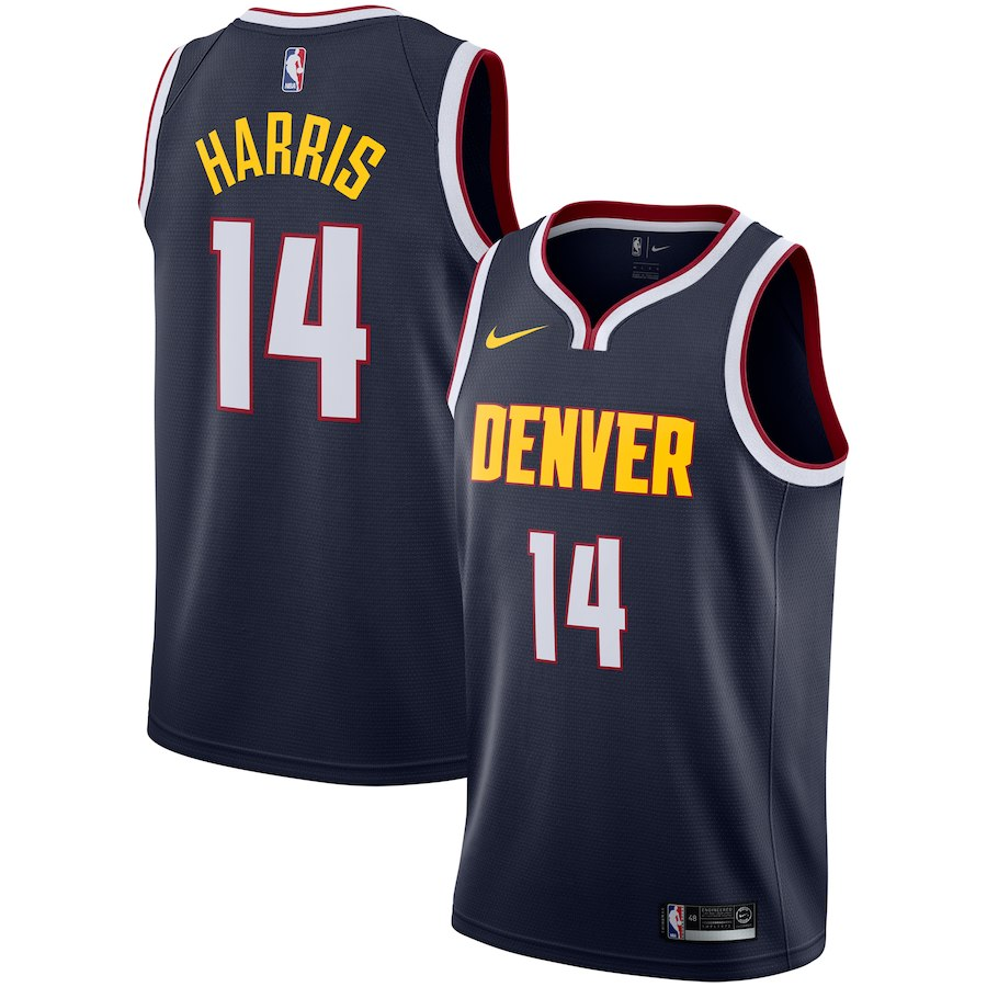 Nuggets 14 Gary Harris Navy Nike Swingman Jersey