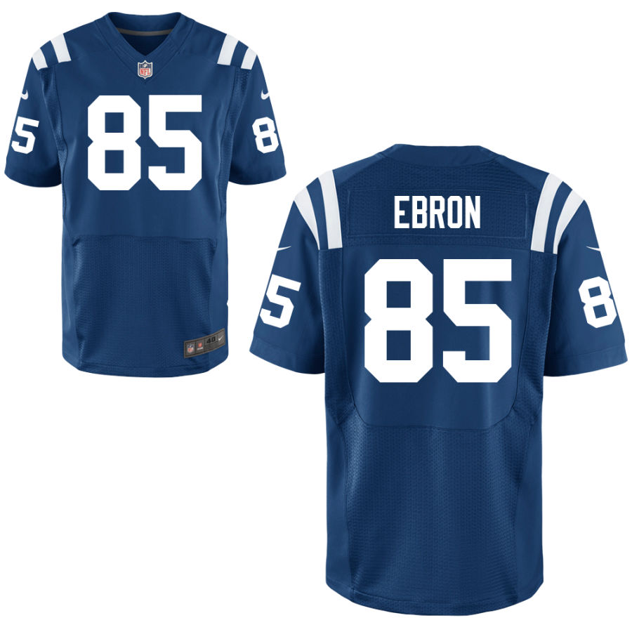 Nike Colts 85 Eric Ebron Blue Elite Jersey