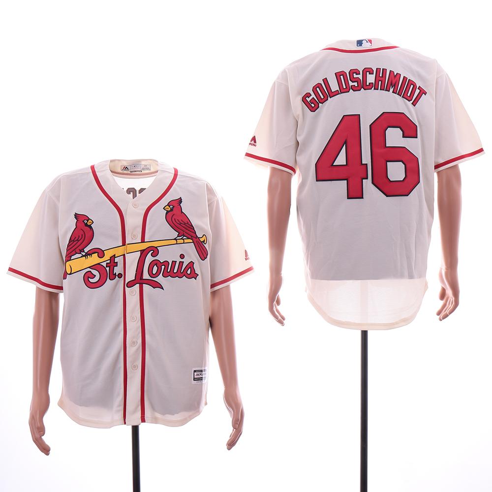 Cardinals 46 Paul Goldschmidt Cream Cool Base Jersey