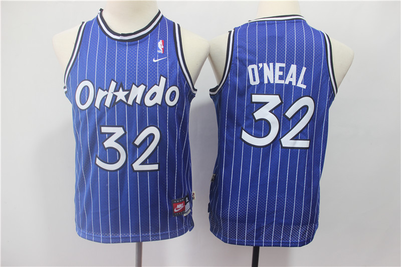Magic 32 Shaquille O'neal Blue Youth Throwback Jersey