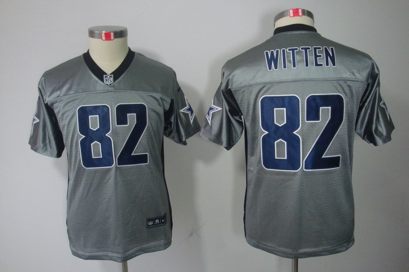 Nike Cowboys 82 Jason Witten Gray Youth Lights Out Limited Jersey