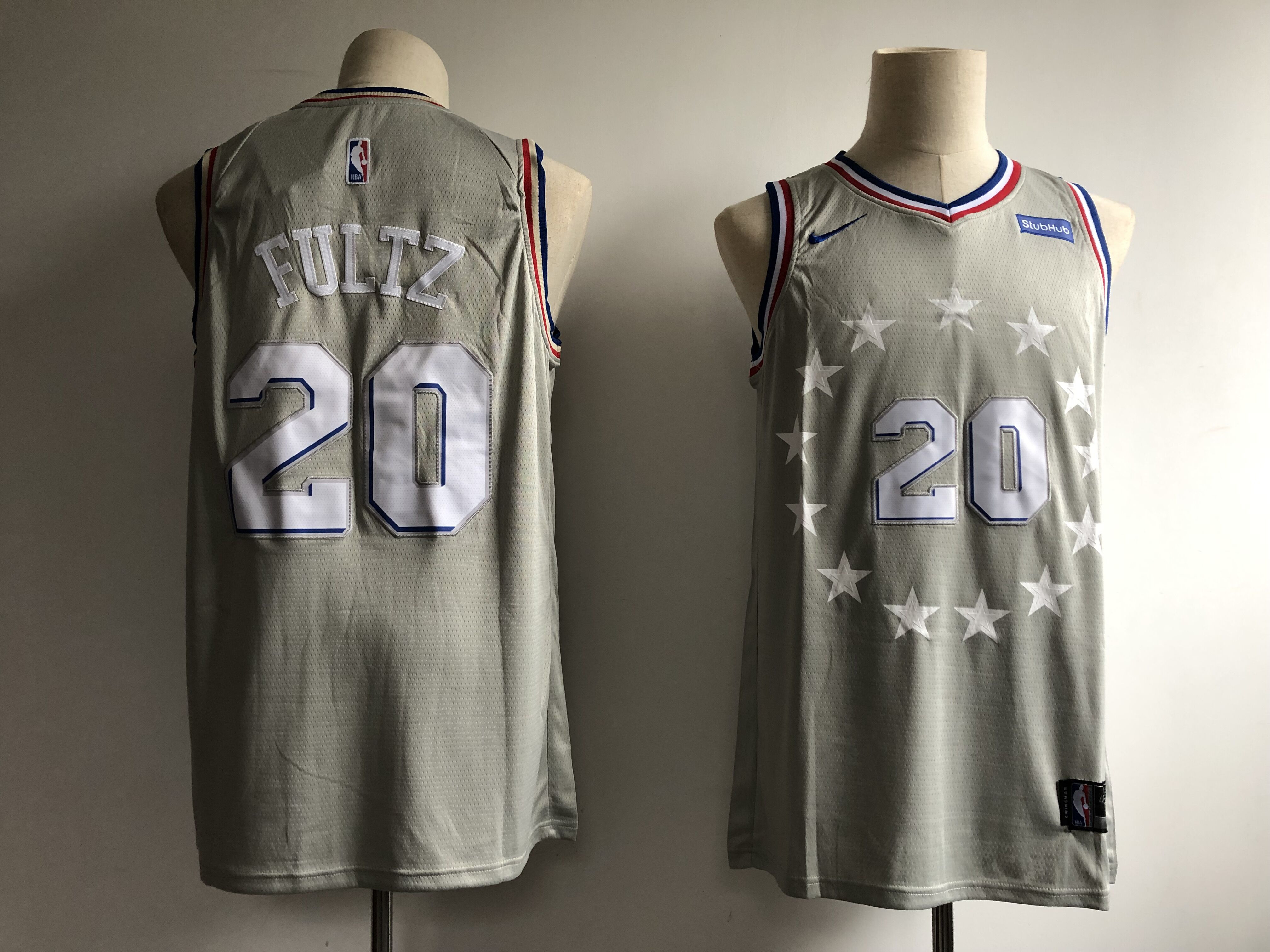 76ers 20 Markelle FultzGray 2018-19 City Edition Nike Swingman Jersey