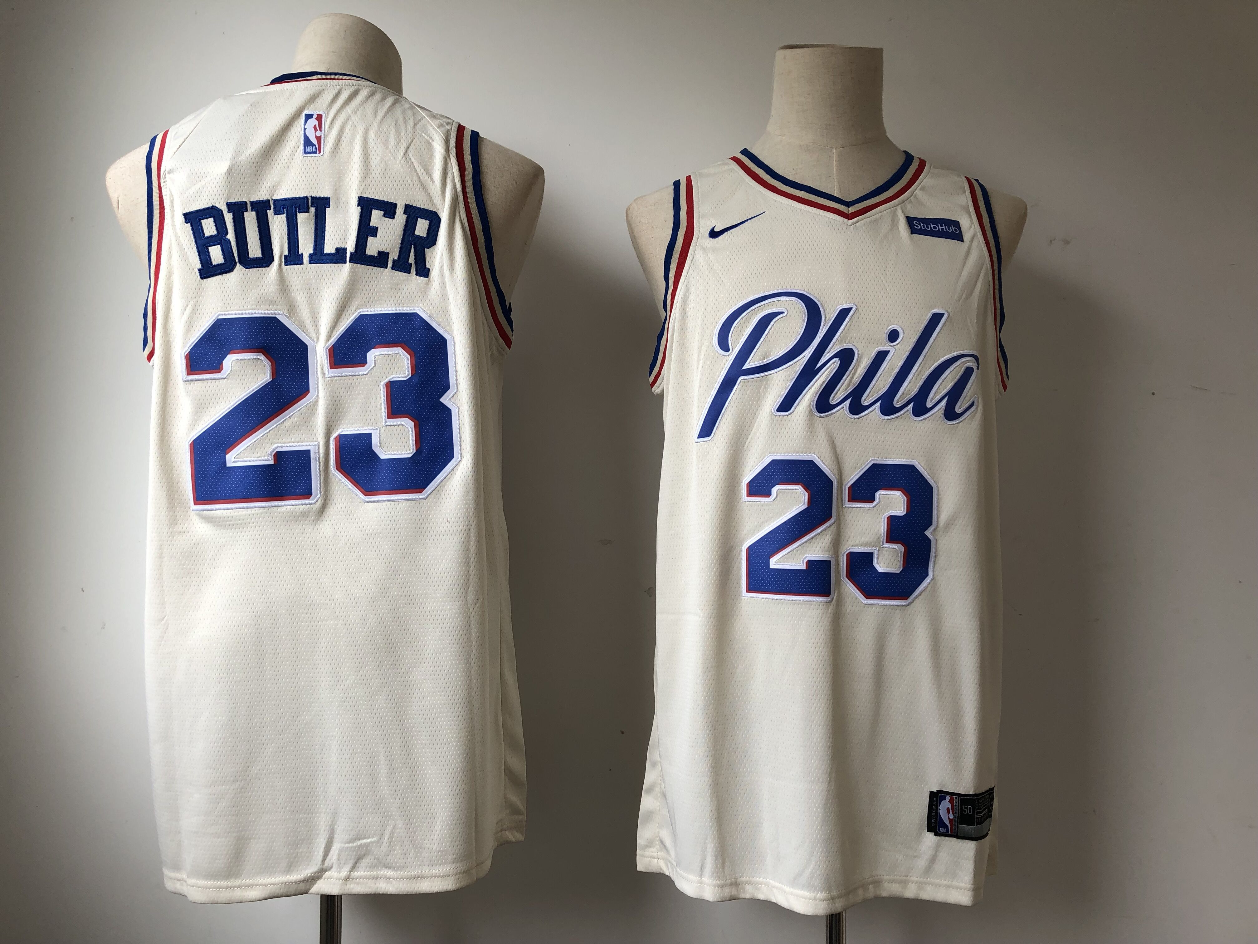 76ers 23 Jimmy Butler Cream City Edition Nike Swingman Jersey