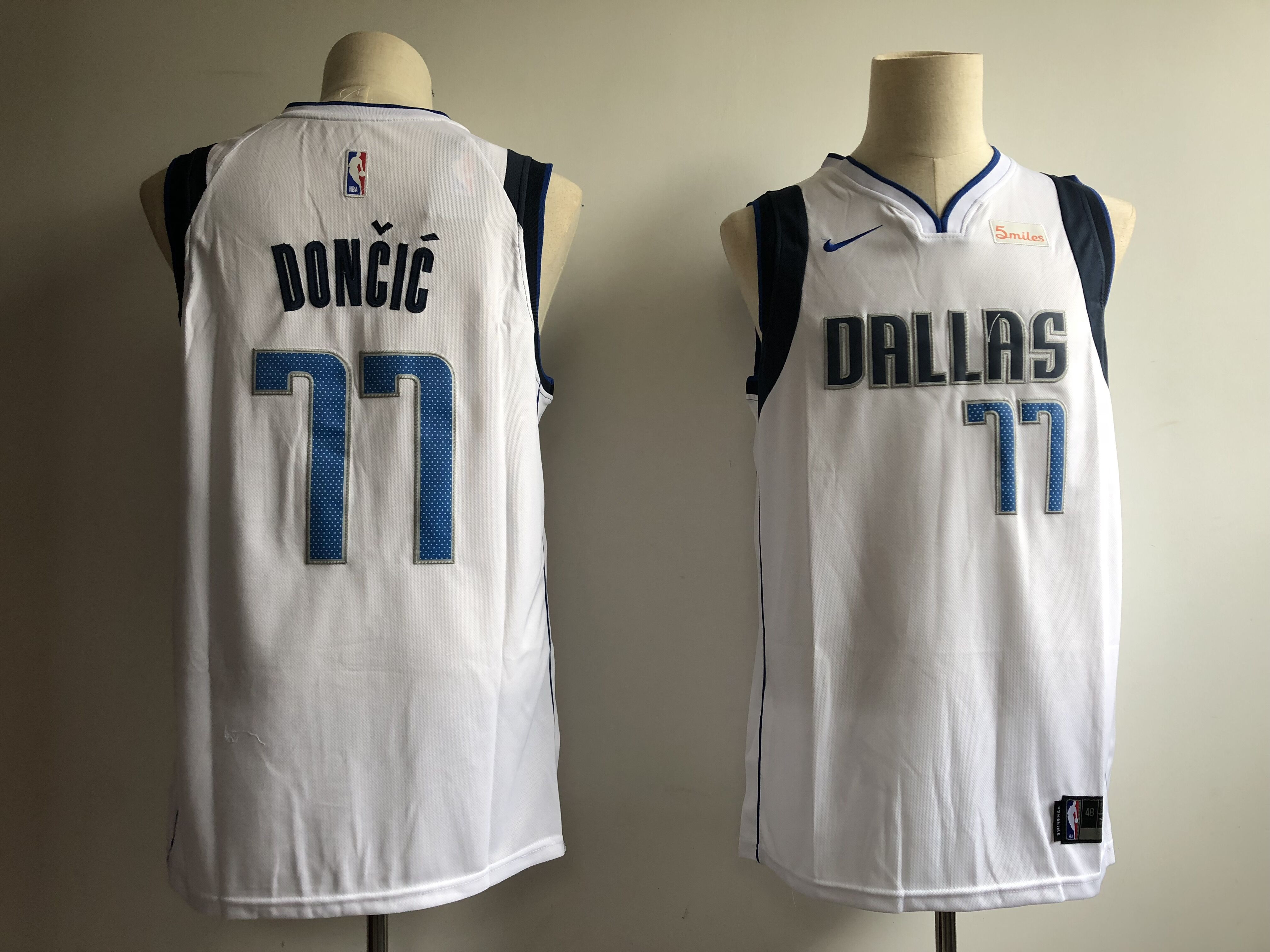 Mavericks 77 Luka Doncic White Nike Swingman Jersey