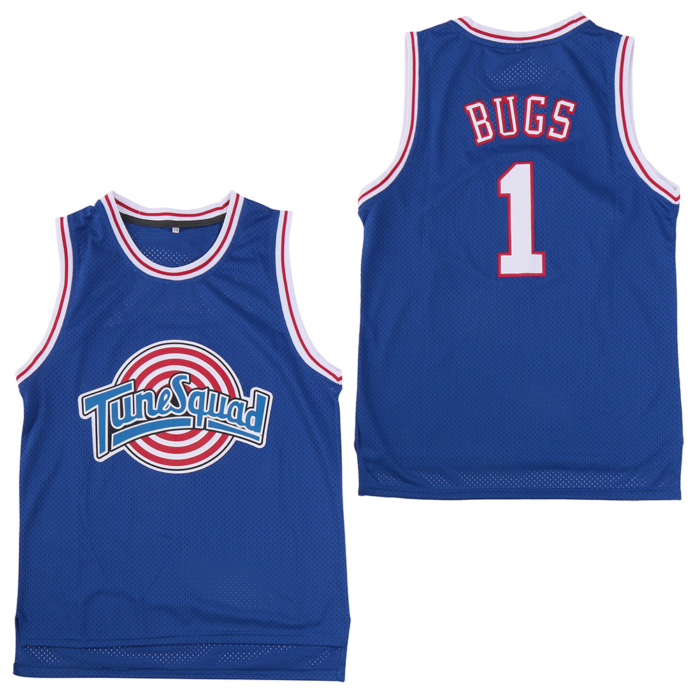 "Tune Squad 1 ""Bugs"" Blue Stitched Movie Basketball Jersey"