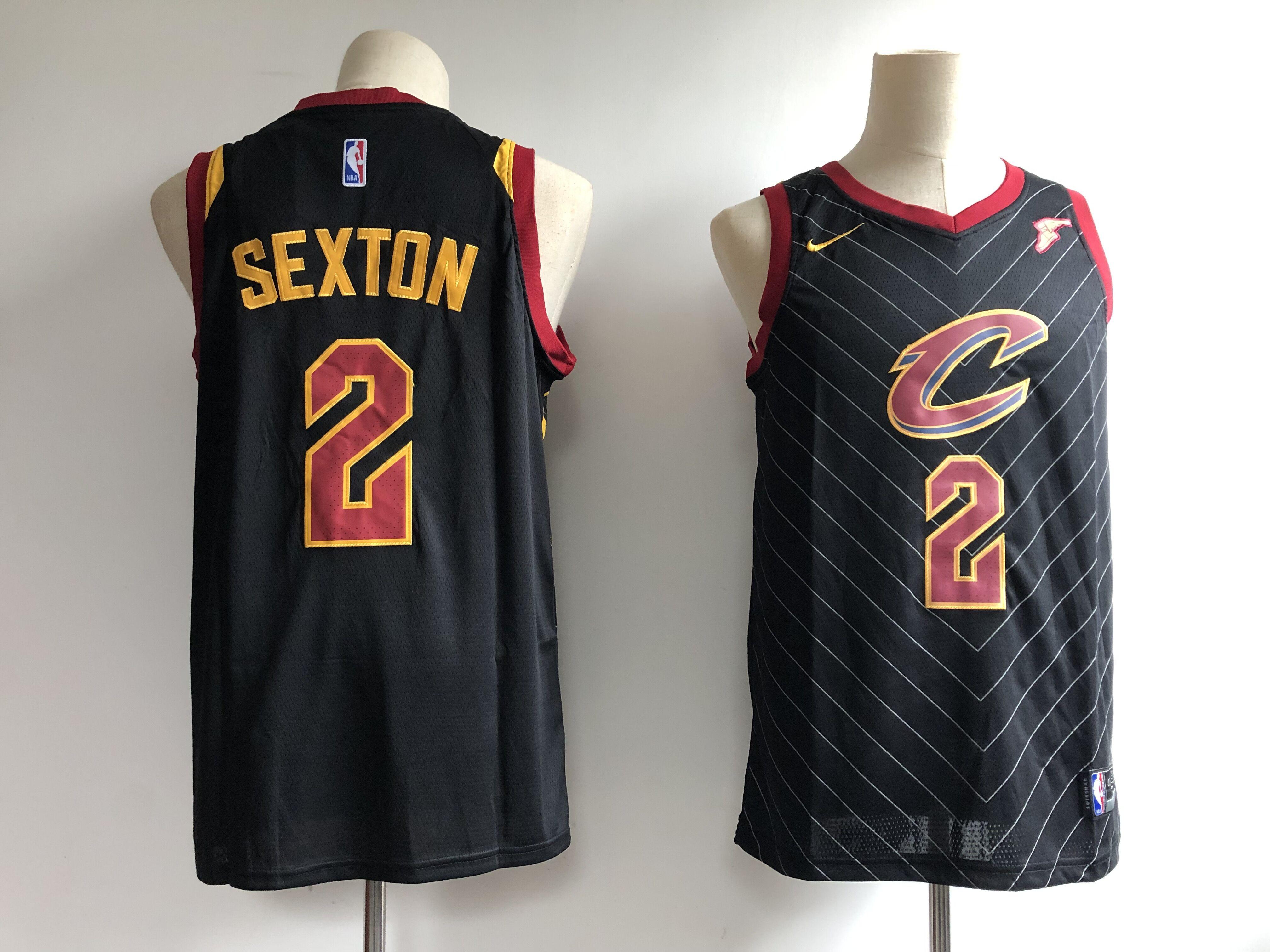Cavaliers 2 Collin Sexton Black Nike Swingman Jersey