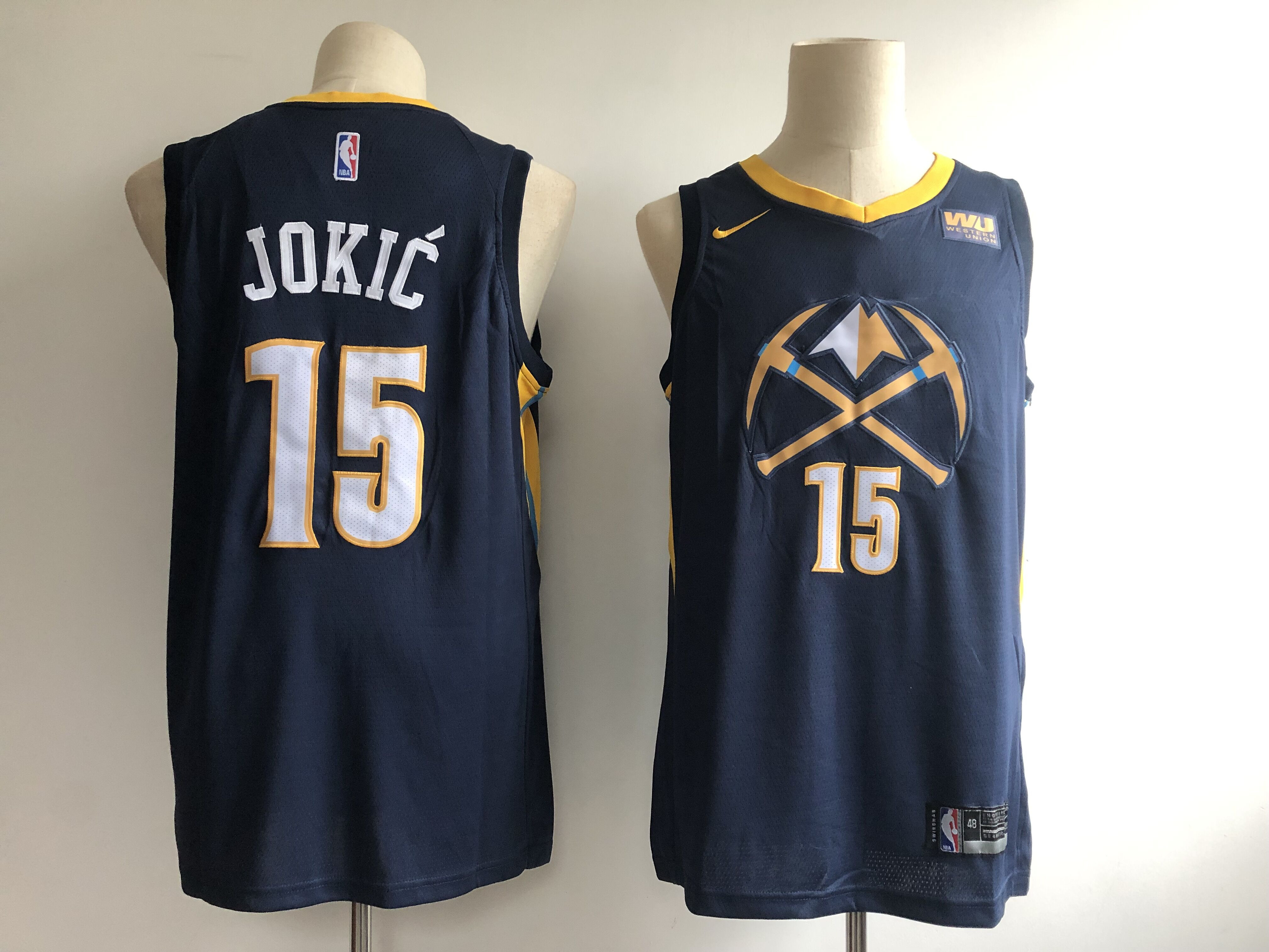 Nuggets 15 Nikola Jokic Navy 2018-19 City Edition Nike Swingman Jersey