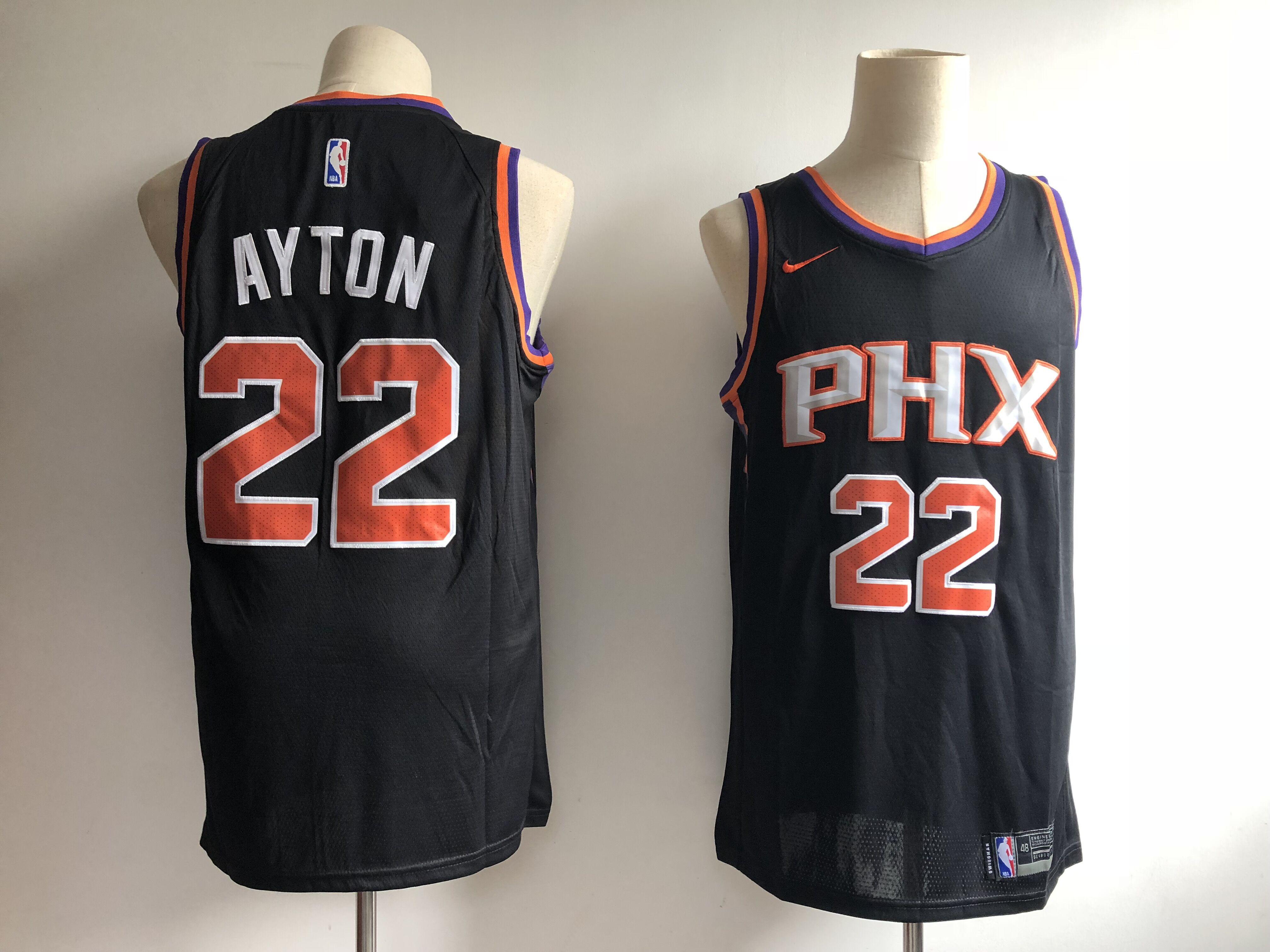 Suns 22 Deandre Ayton Black Nike Swingman Jersey