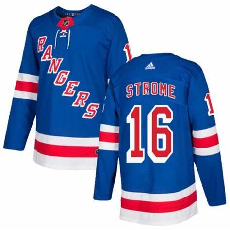 Rangers 16 Ryan Strome Blue Adidas Jersey