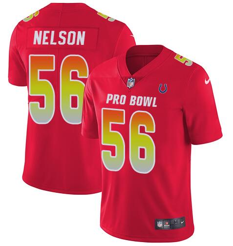 Nike AFC Colts 56 Quenton Nelson Red 2019 Pro Bowl Limited Jersey
