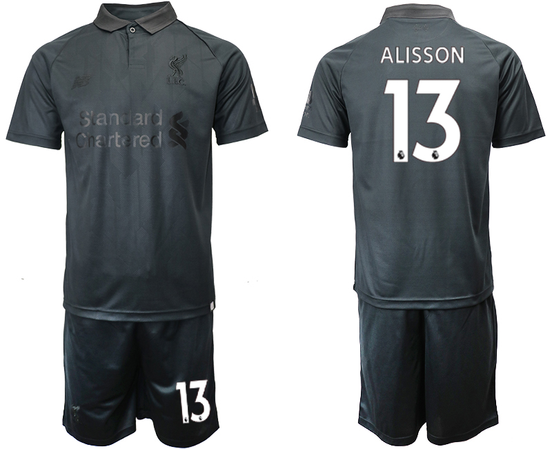 2018-19 Liverpool 13 ALISSON Black Goalkeeper Soccer Jersey