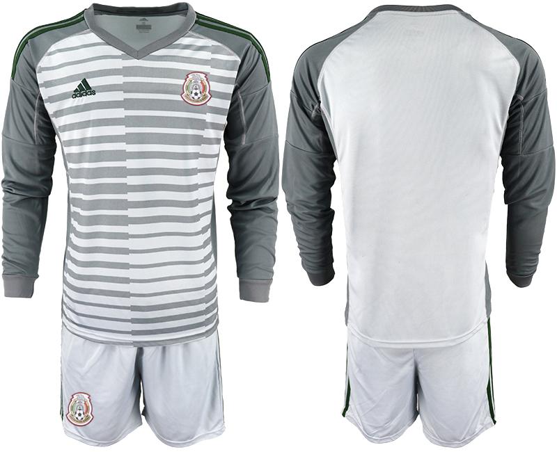 Mexico Gray 2018 FIFA World Cup Long Sleeve Goalkeeper Soccer Jersey