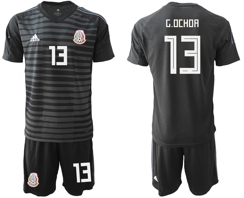 Mexico 13 G.OCHOA Black Goalkeeper Soccer Jersey