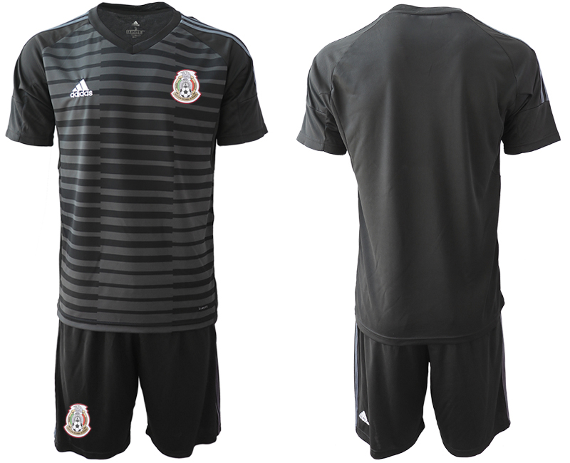 Mexico Black 2018 FIFA World Cup Goalkeeper Soccer Jersey