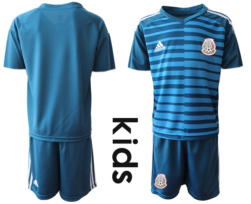 Mexico Blue Youth 2018 FIFA World Cup Goalkeeper Soccer Jersey