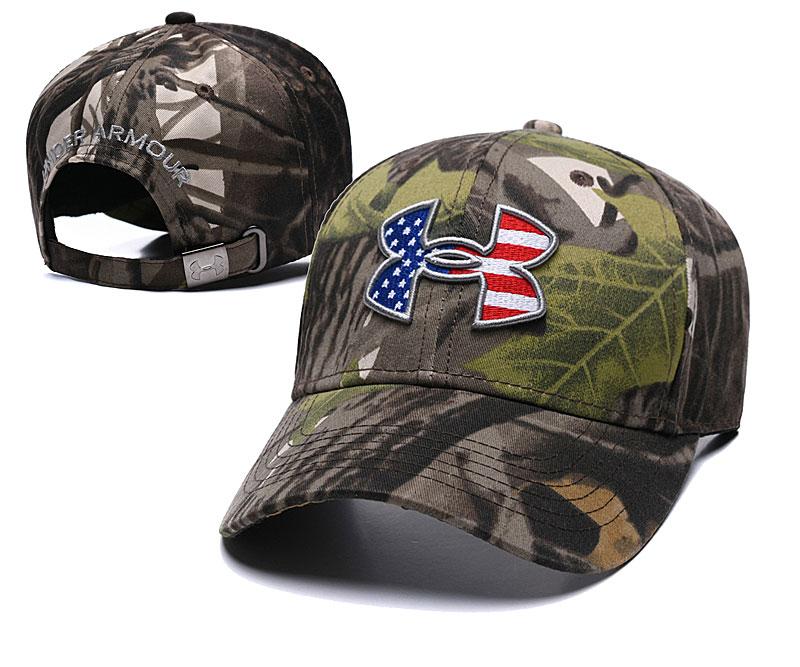 Under Armour USA Flag Camo Peaked Adjustable Hat TX