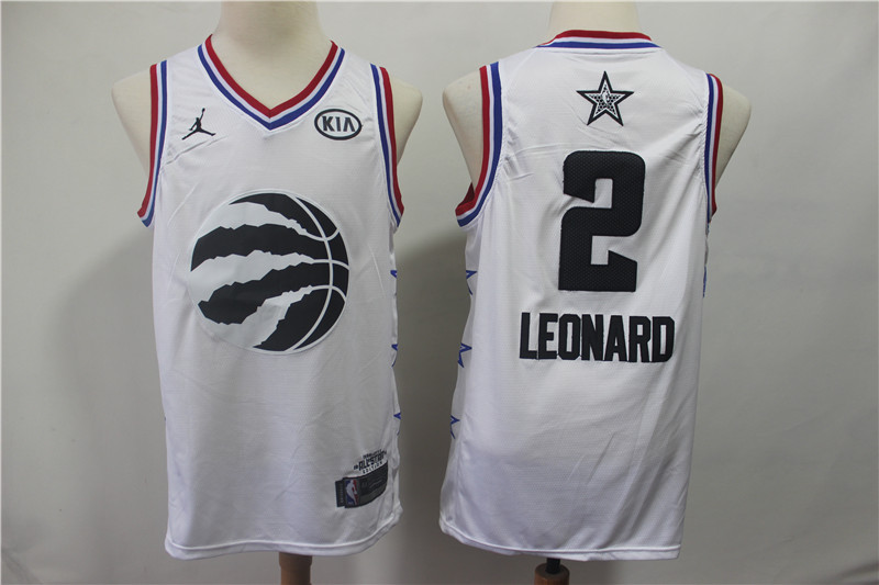 Raptors 2 Kawhi Leonard White 2019 NBA All-Star Game Jordan Brand Swingman Jersey