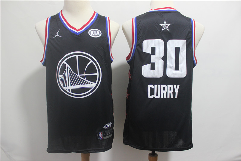 Warriors 30 Stephen Curry Black 2019 NBA All-Star Game Jordan Brand Swingman Jersey