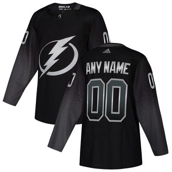 Lightning Black Alternate Men's Customized Adidas Jersey
