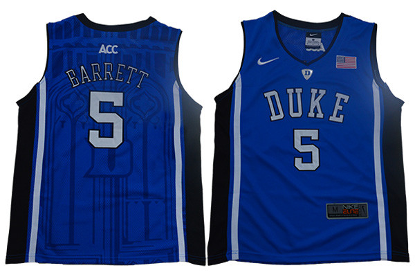 Duke Blue Devils 5 RJ Barrett Blue Youth Nike Elite College Basketball Jersey